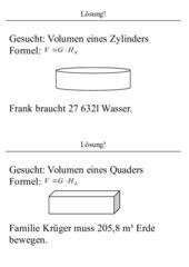 Freiarbeitsmaterial: Volumen und Oberfläche von Prismen...