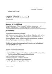 Joghurt-Donats