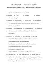 Till Eulenspiegel (Kästner) AB  zum Leseverstehen (Kl. 3 & 4)