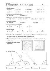 3. Klassenarbeit - 6. Schuljahr