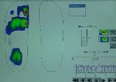 Animation der Druckbelastung des menschlichen Fußes