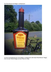 Die Maggiflasche bei Maggi  in Lüdinghausen