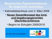Neues bayerisches Übertrittsverfahren