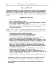 Checkliste für Referate /HSU / Kl.3
