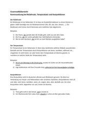 Relativsätze, Temporalsätze und Konjunktionen kennenlernen