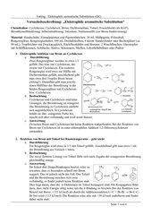 Versuchsbeschreibung: Elektrophile Aromatische Substitution mit Brom an Toluol