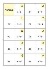 Einmaleins mit 7,8 und 9 – Dominos