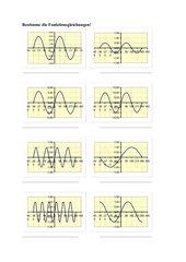 Funktionsgleichungen y = a sin (bx)