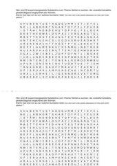 Herbstwörter - Wortsuchrätsel