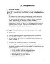 4teachers Interpretation Einer Kurzgeschichte