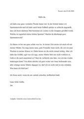 Einen Antwortbrief schreiben