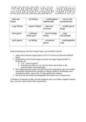 Spiele zum kennenlernen 5.klasse