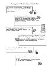 Textaufgaben zur Bruchrechnung (1)