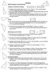 Flächenberechnung Dreiecke