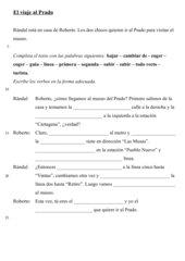 Lückentext: El viaje al Prado