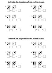 Mathe, Klasse 1, ZR10/20, Würfelbilder-Aufgaben