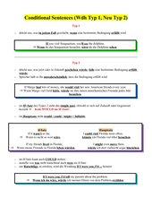 Conditional Sentences - Wdh Typ 1, Einführung Typ 2 Übersicht
