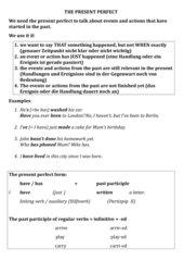 Einführung ins Present Perfect auf Englisch für Mittelstufe