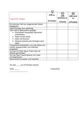 Kriterien zur Bewertung eines Deutschheftes Klasse 3