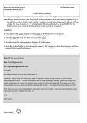 Klassenarbeit 5 Briefe verfassen