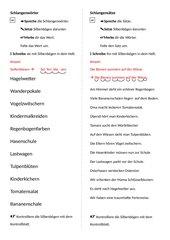 Fresch- Silben bei Schlangenwörtern/-sätzen