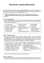 baukasten lineare errterung - Erorterung Beispiel Klasse 10