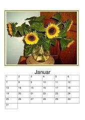 Immerwährender Kalender mit Sonnenblumen