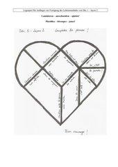Herztangram Sätze ergänzen L2