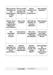 Die Operette + Fragekarten