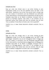 Suchseltext: Konzentrationsübung-versteckte Tiernamen