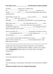 Lückentext zur Einführung der Jungsteinzeit Kl.6 WZG