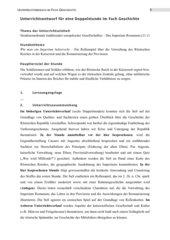 Stundenentwurf mit Rollenspielen zum Thema Romanisierung