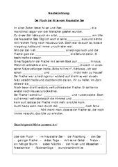Nacherzählung - Die Nixe vom Neusiedlersee