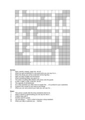 Kreuzworträtsel Einzelhandel