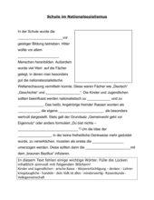 Lückentext: Schule im Nationalsozialismus
