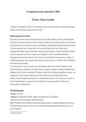 Thema Familie in sozialpädagogischer Gruppenarbeit