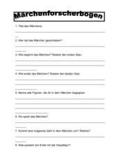 Forscherbogen Märchen