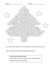 Weihnachtswörterrätsel