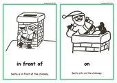Santa and chimney - prepositions