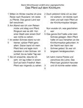 Münchhausen: Das Pferd auf dem Kirchturm (differenzierter Lesetext)