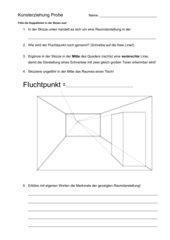 Probe/Test/Lernzielkontrolle Zentralperspektive