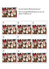 Weihnachtliche Wahrnehmungsübung