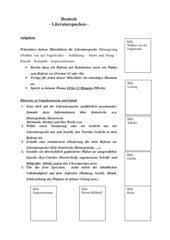 Literaturepochen - Referatthemen und Hinweise
