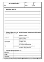 Rechtschreib Probearbeit Deutsch