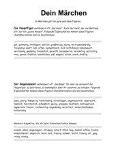 Adjektive für dein Märchen - Deutsch Kl. 4-6
