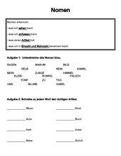 Test: Nomen erkennen / zusammengesetzte Nomen