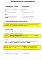 Instruktionsbogen p.c. der verbes pronominaux