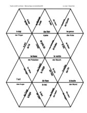 Dreieckspuzzle Körperteile