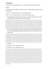 Textaufgaben, 4. Klasse