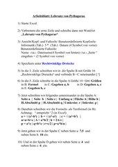 Arbeitsblatt Pythagoras